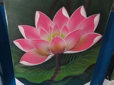 lotus flower painting designs 6 pcs wholesale lotus flower balinese painting on