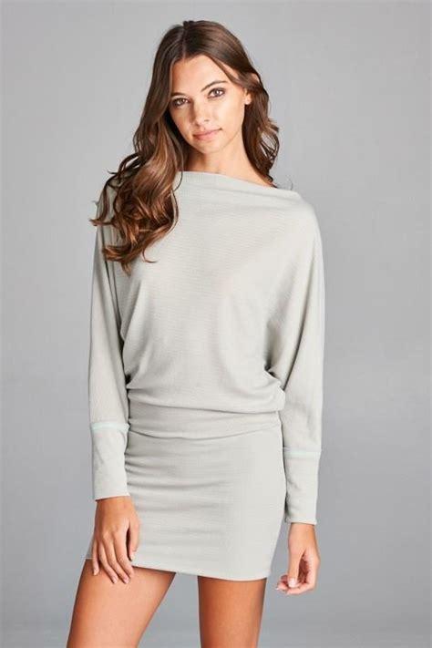 Misha Tunik misha the shoulder tunic dress light grey daily chic