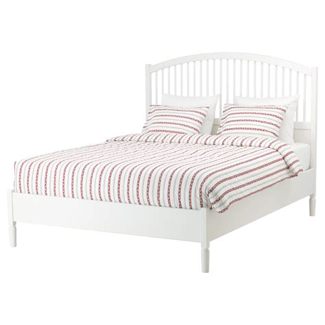Ikea Bed Frame King Tyssedal Bed Frame White Leirsund Standard King Ikea
