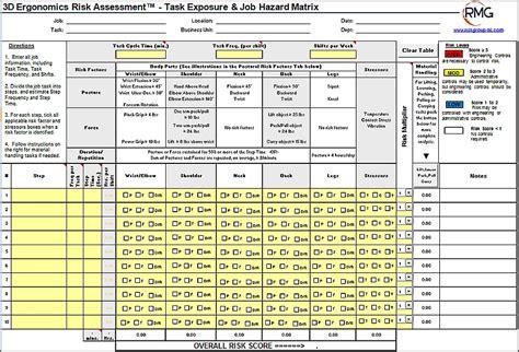 ergonomic assessment template cool ergonomic assessment template images exle resume
