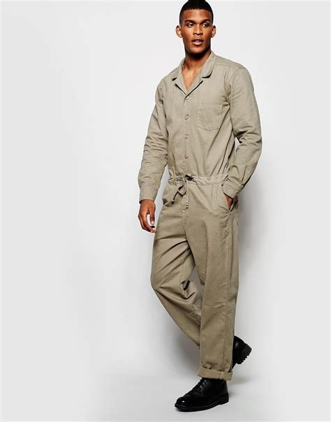 in suit lyst asos boiler suit in twill in for