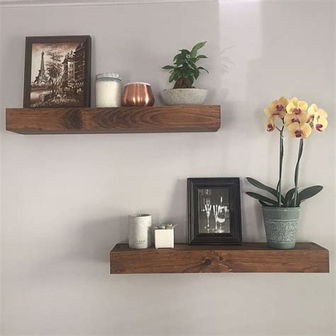 Bathroom Wall Shelves Wood Floating Shelves Modern Shelf Shelving Shelf Wall