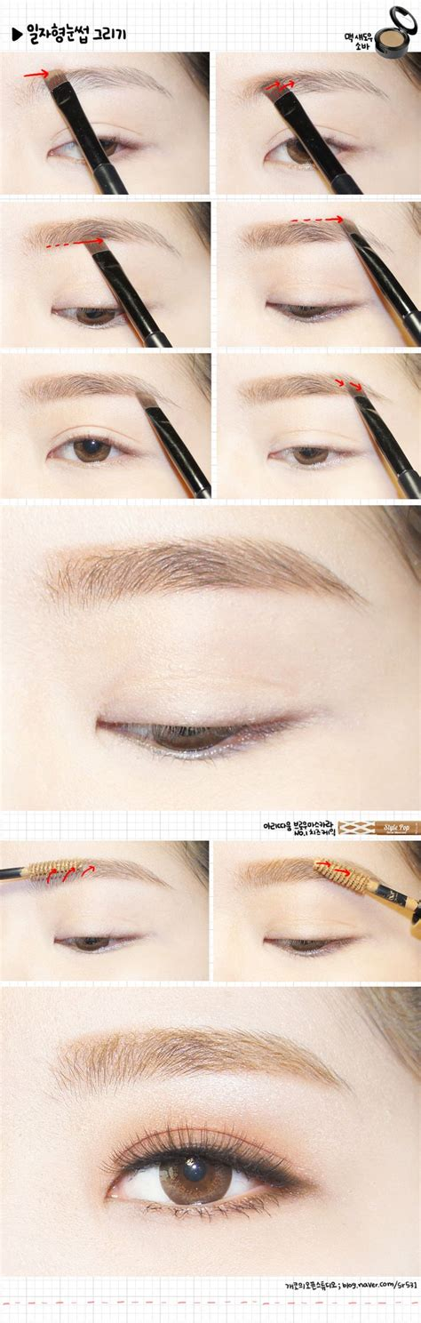 Korean Eyebrow Makeup Tutorial | korean eyebrows pretty pinterest
