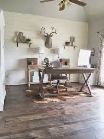 Rustic Home Office Desk Remodelaholic How To Install A Shiplap Wall Rustic Home Office Makeover
