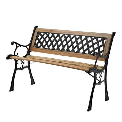 garden bench bunnings marquee lattice back timber park bench furniture