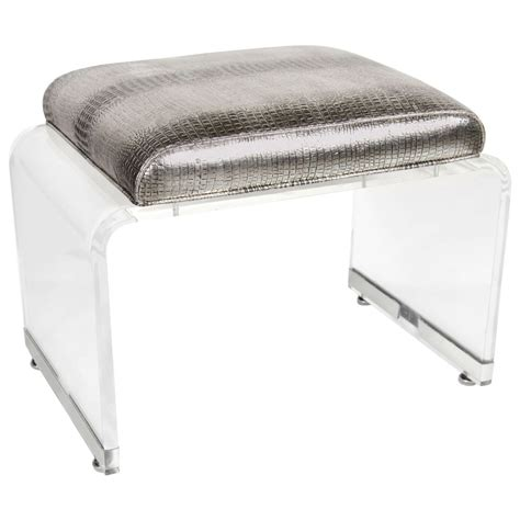 lucite bench ultra chic mid century lucite waterfall design bench stool