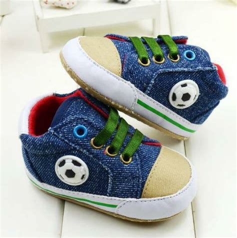 Sepatu Bayi Prewalker Biru Sku23082 jual sepatu prewalker pw anak bayi cowok mc biru denim