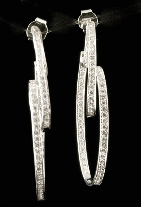 Gc 6520 White Gold 0 18k white gold 2 2 ct hoop earrings from giddy on ruby