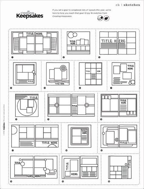 scrapbook layout pdf papercraft nsd 2012 ck national scrapbooking day sketch