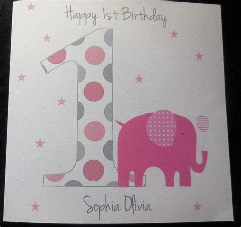 Handmade 1st Birthday Cards Uk