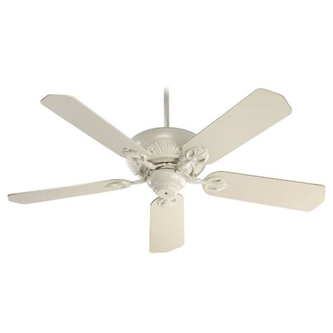 white ceiling fan without light quorum lighting chateaux antique white ceiling fan without