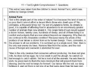 comprehension check author biography george orwell 11 11 plus english comprehension practice test by tolal