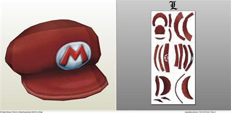 papercraft pdo file template for mario mario s hat