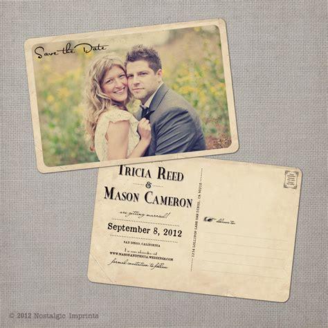 unique postcards unique wedding save the dates save the date postcard vintage
