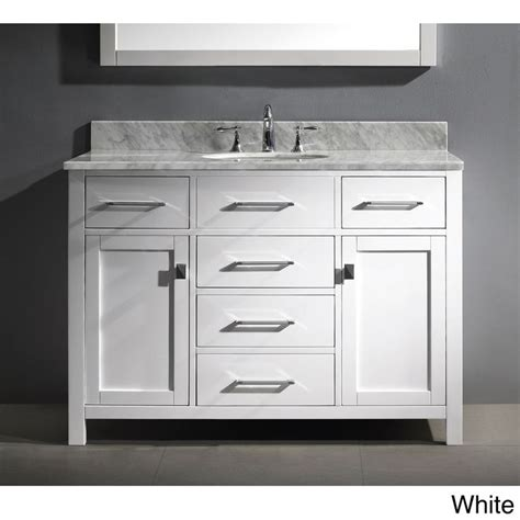 virtu 48 inch single sink white bathroom vanity set virtu usa caroline 48 inch single sink bathroom vanity set