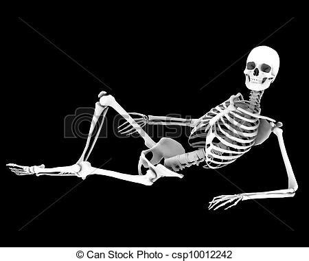 Small Home Plans Free by Drawing Of Resting A Skeleton In A Pose Csp10012242