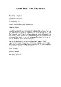 Agreement Letter For Design Interior Design Letter Of Agreement Hashdoc
