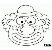 Malvorlagen Clown Maske Mit Kleinen Hut Ausmalbilder