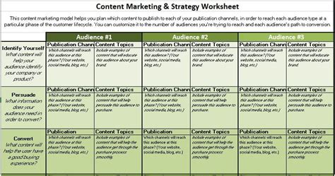 8 Free Content Marketing Templates To Save You Hours Of Work Content Marketing Template