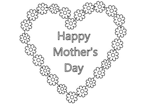 coloring page mother day card happy mothers day coloring pages 2018 free printable