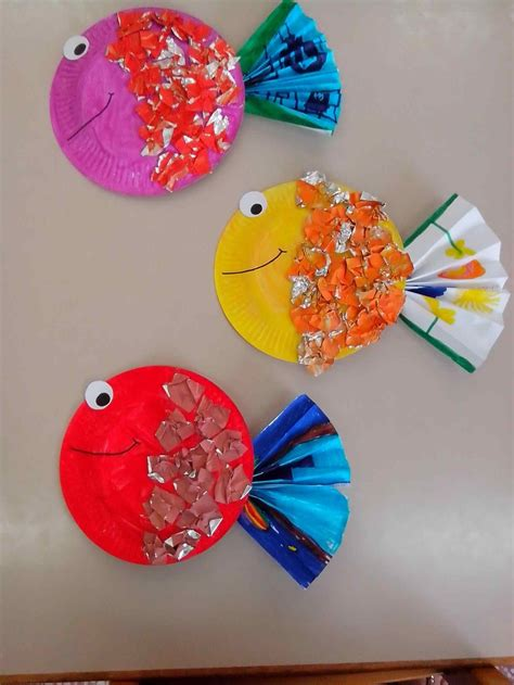 What Is Paper Crafts - fish aquariums bricolages fish summer paper