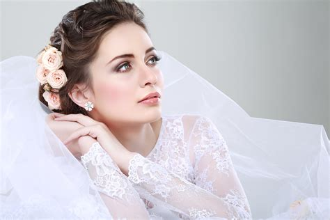 Best Bridal Images by Portrait Of Beautiful Wedding Dress Wedding