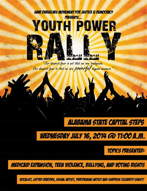 Youth Rally Flyer Template