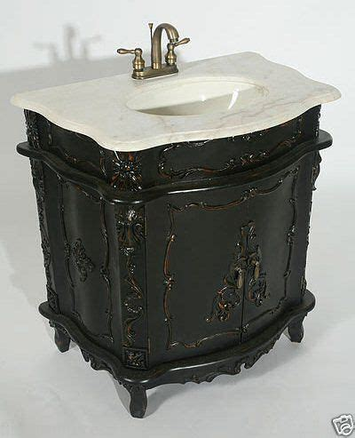 Antique Bathroom Vanity Units by Chateau Antique Black Furniture Grey Marble Top