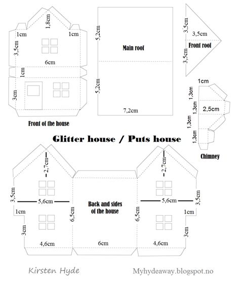 house patterns my craft and garden tales glitter house box with maja