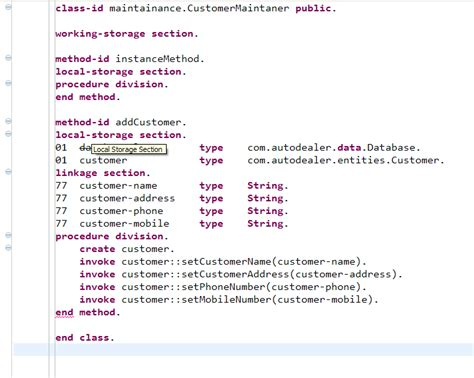 section in cobol linkage section problem in jvm cobol visual cobol