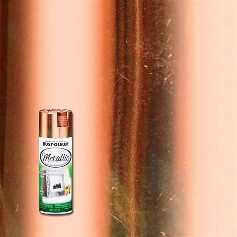 rust oleum specialty 11 oz metallic copper spray paint 1937830 the home depot
