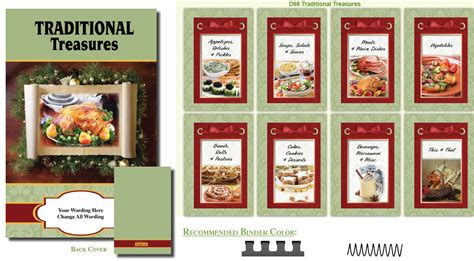 cookbook sections cookbook covers traditions inspired cover fundcraft