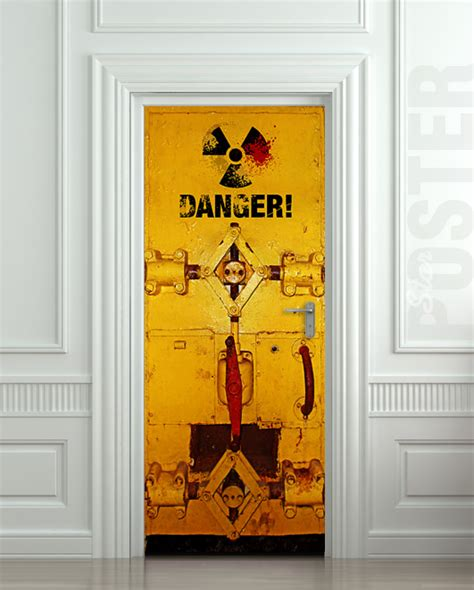 door stickers wall door sticker danger laboratory safe resident evil