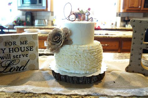 Rustic Bridal Shower Cakes by Ruffled Bridal Shower Cake The Baking