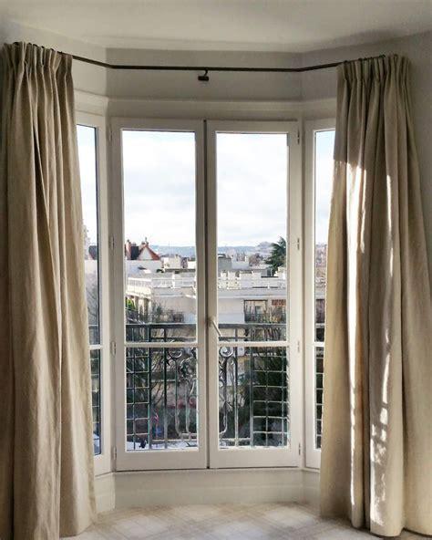 Tringles Rideau by Tringles Pour Bow Window Rideaux Sur Mesure