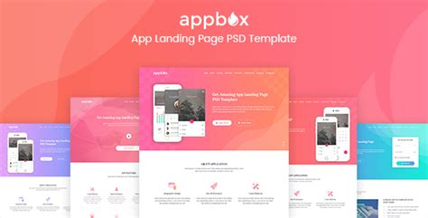 Appbox App Landing Page Psd Template By Sparkraxx Themeforest Woocommerce Landing Page Template
