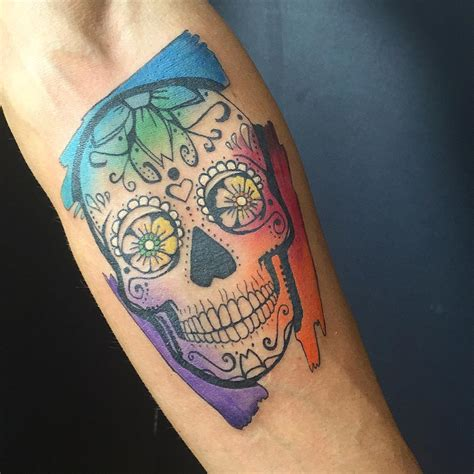 watercolor skull tattoo design 90 magnificent sugar skull ideas represent the