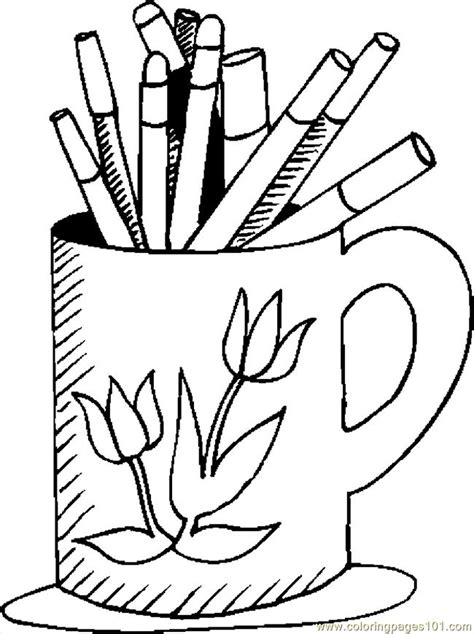 coloring pages mug markers education gt school free