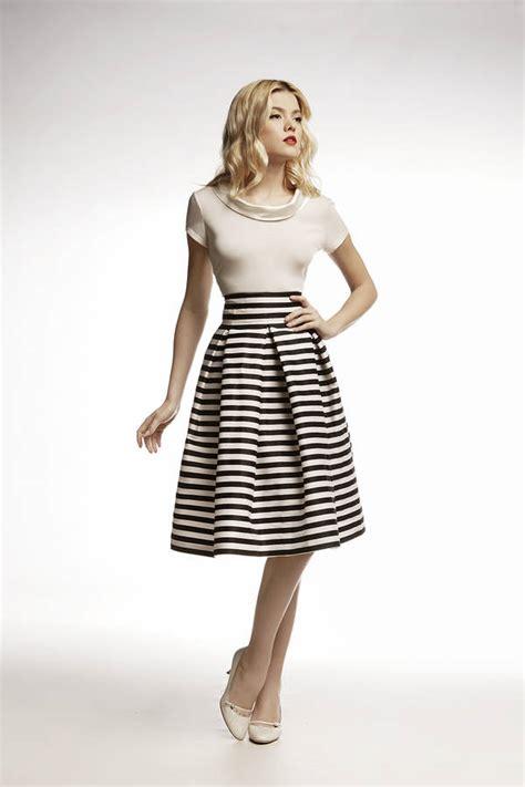 Midi Overall Stripe amalfi striped midi skirt by rumour notonthehighstreet