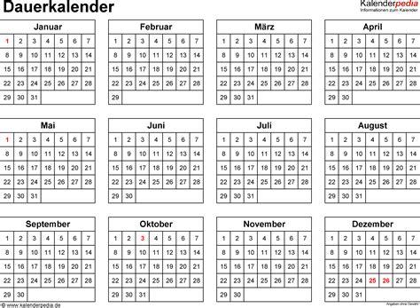 Ewiger Kalender 2017 Ewiger Kalender Kostenlos Kalender 2017