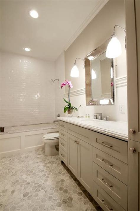 white hexagon tile bathroom 34 white hexagon bathroom floor tile ideas and pictures