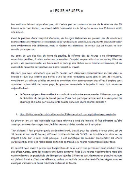 Exemple De Lettre Heures Supplémentaires N 176 2436 Rapport D Enqu 234 Te De Mme Barbara Romagnan Sur L Impact Soci 233 Tal Social 233 Conomique Et