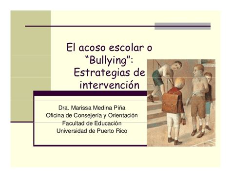acoso escolar bullying slideshare acoso escolar