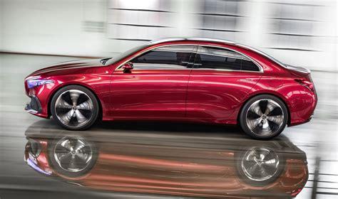 classic mercedes sedan 2018 mercedes benz a class sedan concept revealed photos
