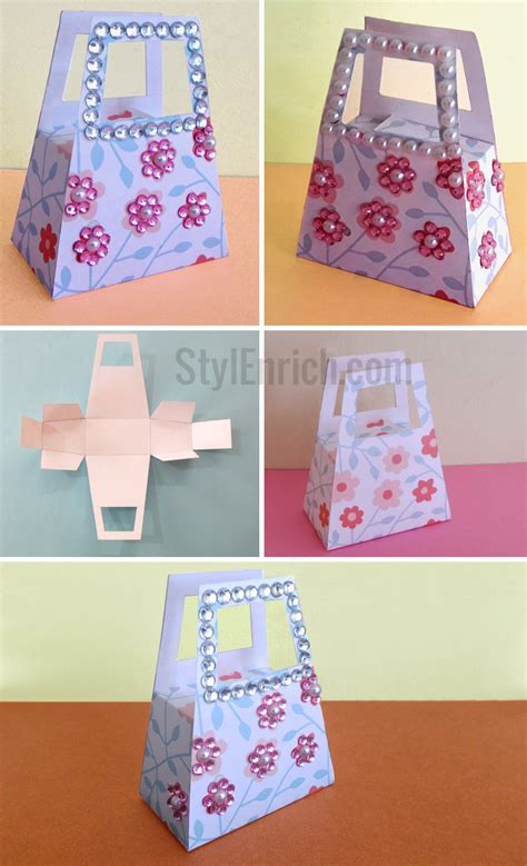 How To Make Handbag With Paper - diy paper gift bag how to make small gift bag for your