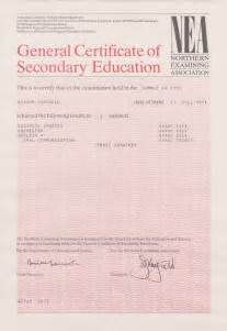 Gcse Certificate Template Gcse Certificates Submited Images