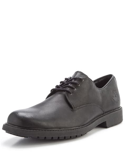 plain black shoes for timberland stormbuck plain toe shoes in black for lyst