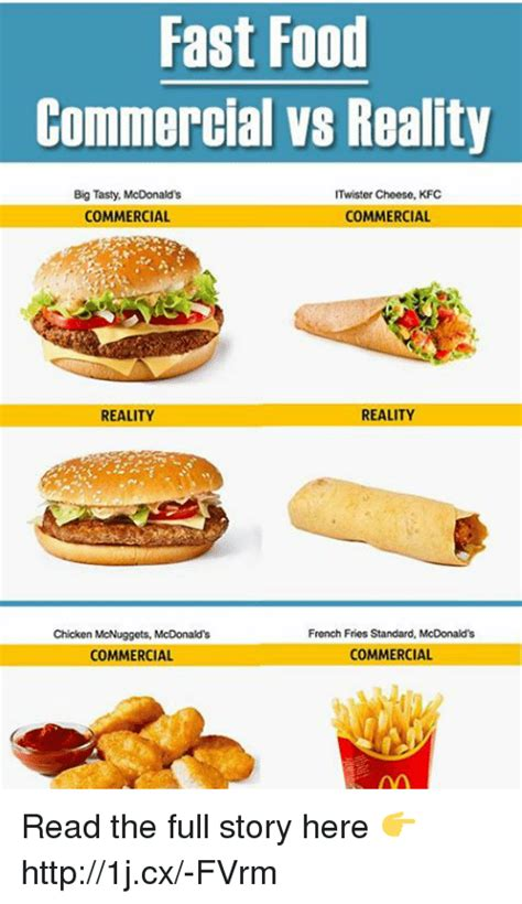 Who Is Your Favorite Food Reality Contestant Of 2007 by Fast Food Commercial Vs Reality Big Tasty Mcdonald S