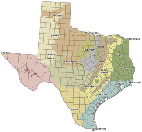 map of texas cities and counties printable texas county map images