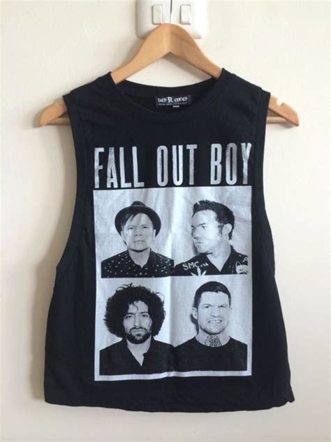 Kaos Bring Me The Horizon Logo 1 Singlet Tanpa Lengan Tpl Bmh01 Pria fall out boy vest tank top boyfriend tshirt crop